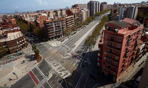 Meridiana avenue in Barcelona, Spain.