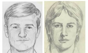 An FBI depiction of the so-called Golden State Killer, who terrorized the state during 1970s and 80s but has long eluded capture.