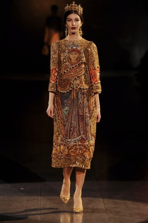A model in Dolce & Gabbana's 2013 collection.