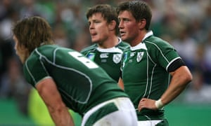An Ireland team featuring Simon Easterby (left), Brian O'Driscoll and Ronan O'Gara struggled at the 2007 World Cup in France