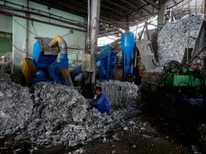 Aluminium from Tetra Pak cartons at Dong Tien paper recycling plant