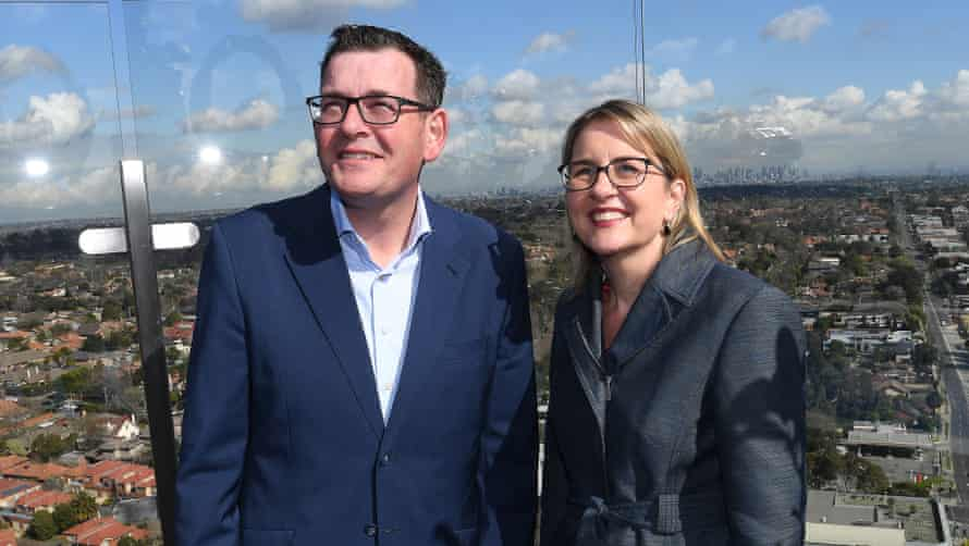 The Victorian premier, Daniel Andrews, and the transport minister, Jacinta Allan, announce plans for the $50bn underground rail network