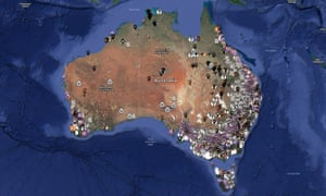 The interactive map on the Aussie Farms website