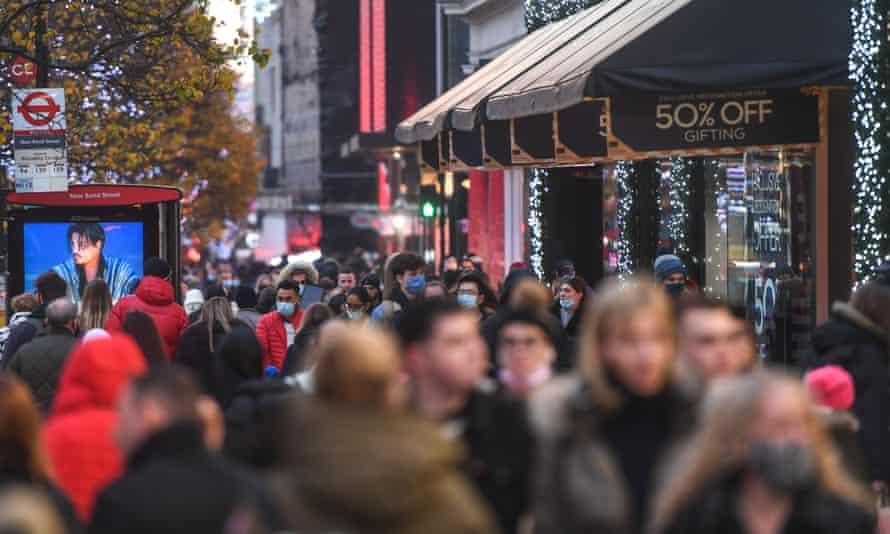 Shoppers in Oxford Street in London