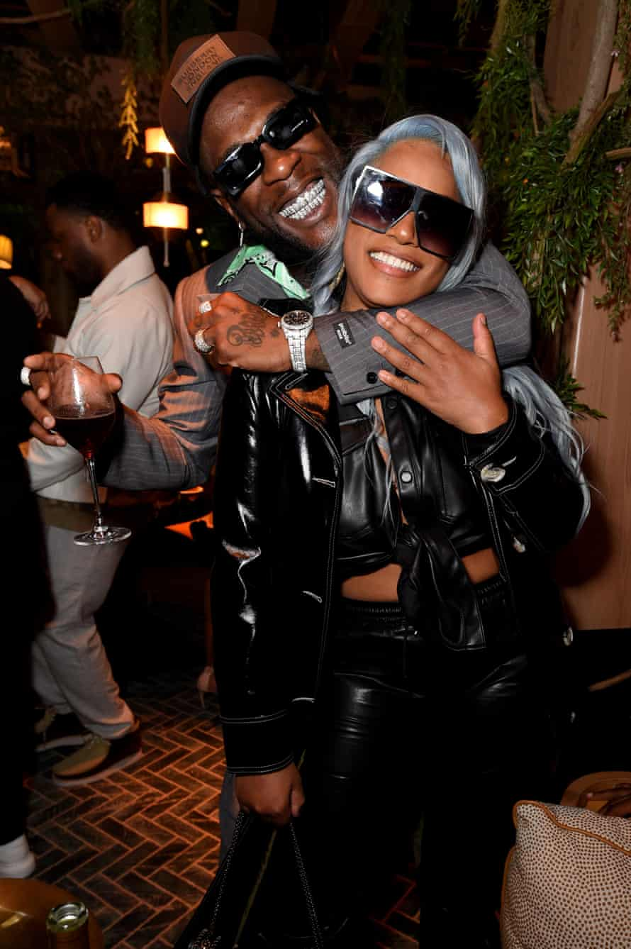 The YouTube Music Excellence Brunch Hosted By Lyor Cohen & Tuma BasaLONDON, ENGLAND - FEBRUARY 16: Burna Boy and Stefflon Don attend the 'YouTube Music Excellence Brunch' hosted by YouTube Musics Global Head of Music, Lyor Cohen and Youtube Musics Head of Urban Music, Tuma Basa to celebrate the Black British Culture in Music at 14 Hills Restaurant and Bar on February 16, 2020 in London, England. (Photo by Tabatha Fireman/Getty Images for YouTube) (Photo by Tabatha Fireman/Getty Images for YouTube)