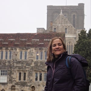 The author at Winchester Cathedral.