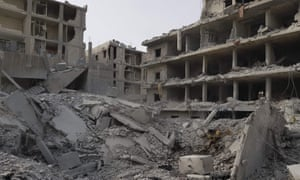 Damage in the Syrian Kurdish city of Afrin a day after Turkish-led forces entered the city.