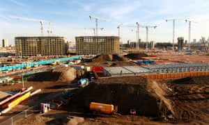 The Olympic Village under construction in 2009.