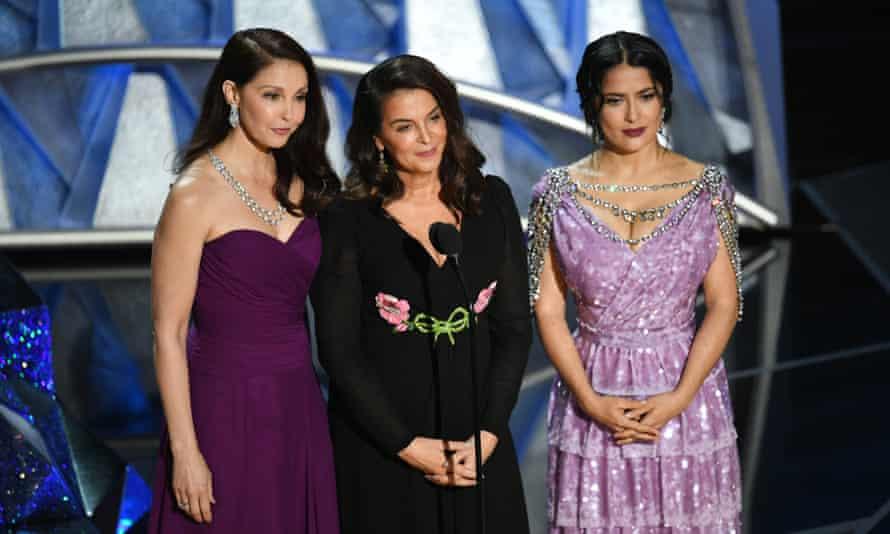 Ashley Judd, Annabella Sciorra and Salma Hayek.