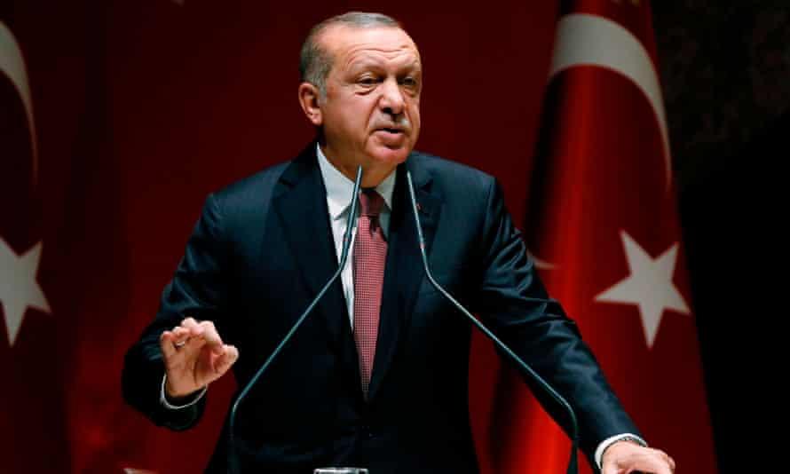 Recep Tayyip Erdoğan speaking in Ankara on Friday