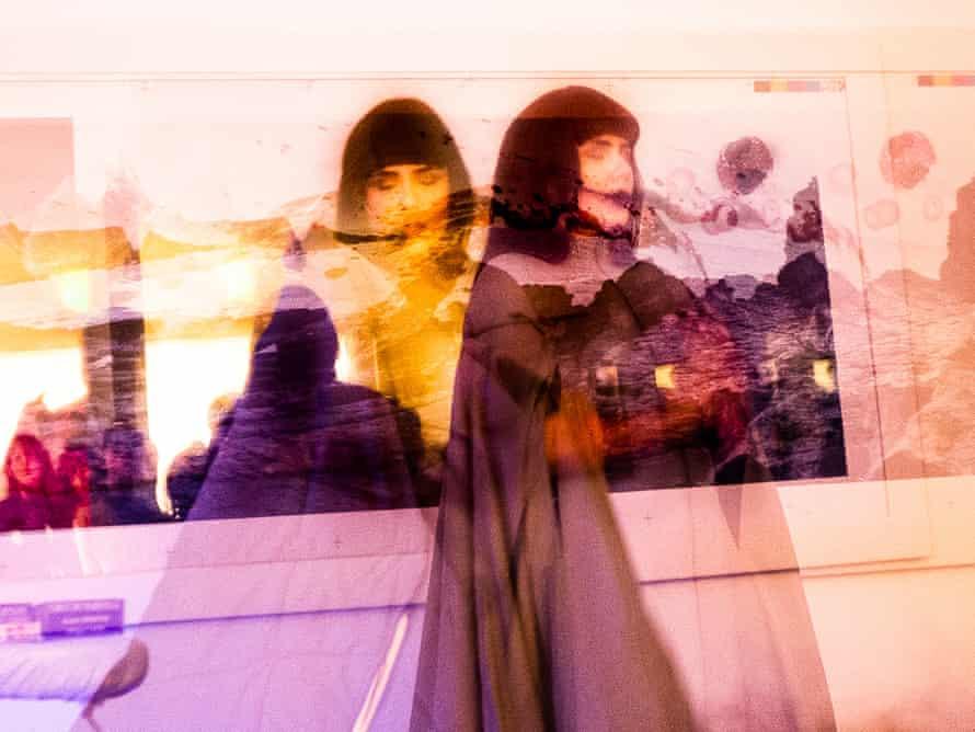 Laima Leyton … Performance at the Richard Saltoun gallery.