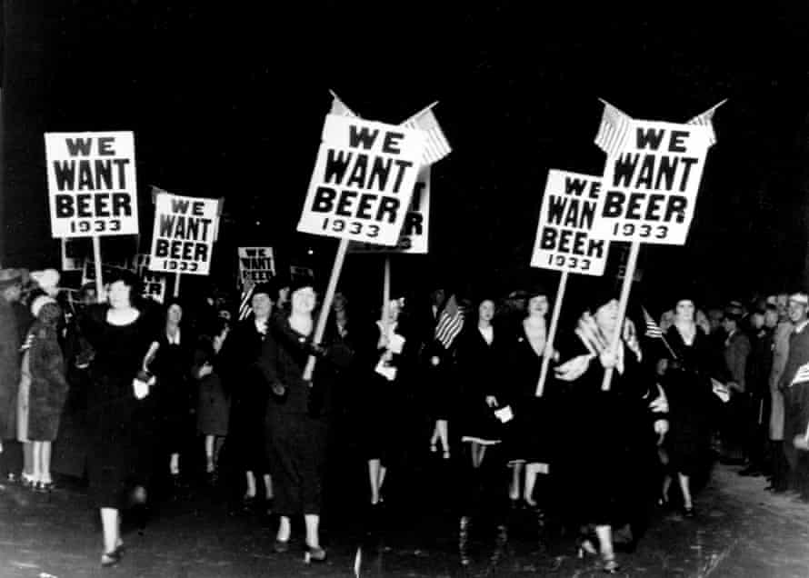 An anti-prohibition parade and demonstration in Newark.