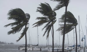 Gusting winds at the marina across from Miami City Hall, Florida