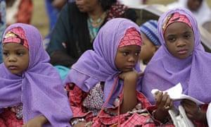 Nigerian girls in Lagos. About a quarter of Nigerian women have undergone FGM.