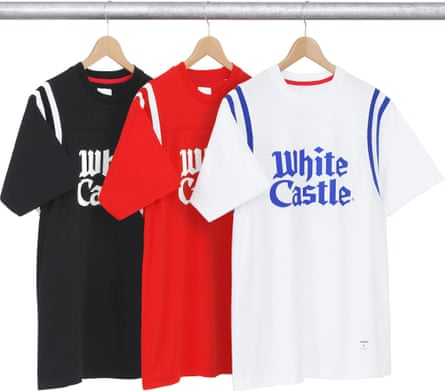 White Castle x Supreme t-shirts from last year's capsule collection.