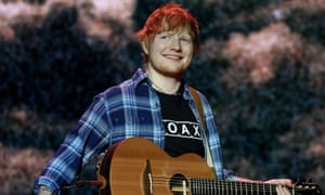 Ed Sheeran, whose music is a favourite sleep aid.