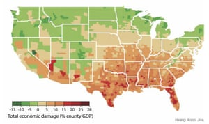 Local economic costs/benefits from climate change under business as usual scenario by the years 2080–2099.