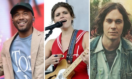 (L-R) Toro Y Moi, Bethany from Best Coast, and Washed Out