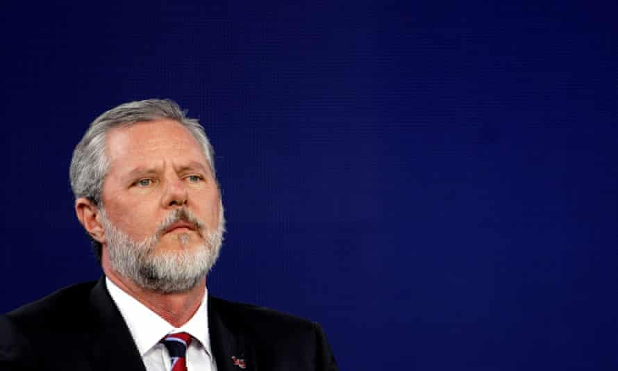Jerry Falwell Jr has denied that he was involved in a sexual relationship between his wife, Becki Falwell, and a young business partner, Giancarlo Granda.