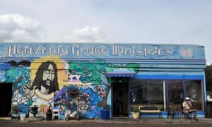 Heavenly Grace Ministries in Sheffield, Alabama, near Muscle Shoals. The area has led the state's economic growth, but progress is threatened by proposed spending cuts.