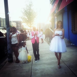 Children leave a prom in West Philadelphia.