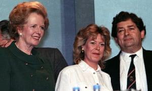 Margaret Thatcher (left) with Nigel Lawson in 1989