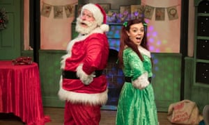 James Worthington and Justine Lee in Father Christmas Needs a Wee, a two-hander musical produced by TaleGate