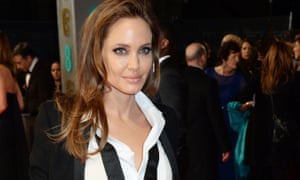 Angelina Jolie in a YSL suit at the 2014 Baftas. A possible look for lesbian Bond?