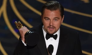 Leonardo DiCaprio wins best actor for The Revenant.
