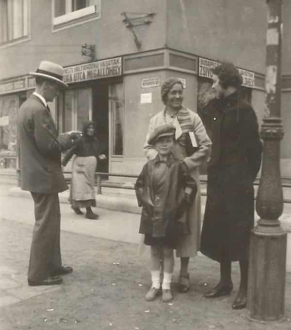 Edward Shires pictured in the Rakosfalva neighbourhood of Budapest with family members in about 1930.