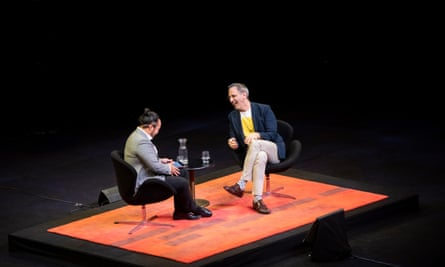 Adam Liaw and Yotam Ottolenghi on stage at the Opera House