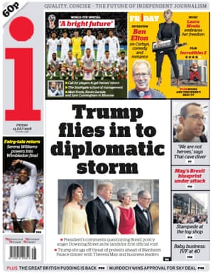 i front page, Friday 13 July