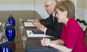 Nicola Sturgeon in talks with the prime minister