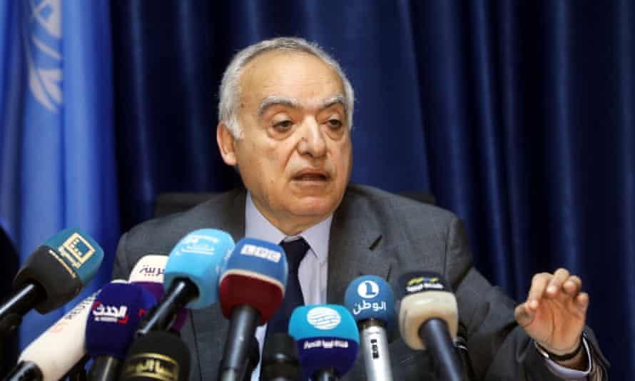 The UN envoy for Libya, Ghassan Salamé, in Tripoli, Libya. on 20 March.