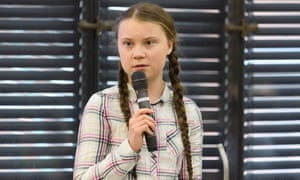 Greta Thunberg addresses the UK parliament's climate change group in April.