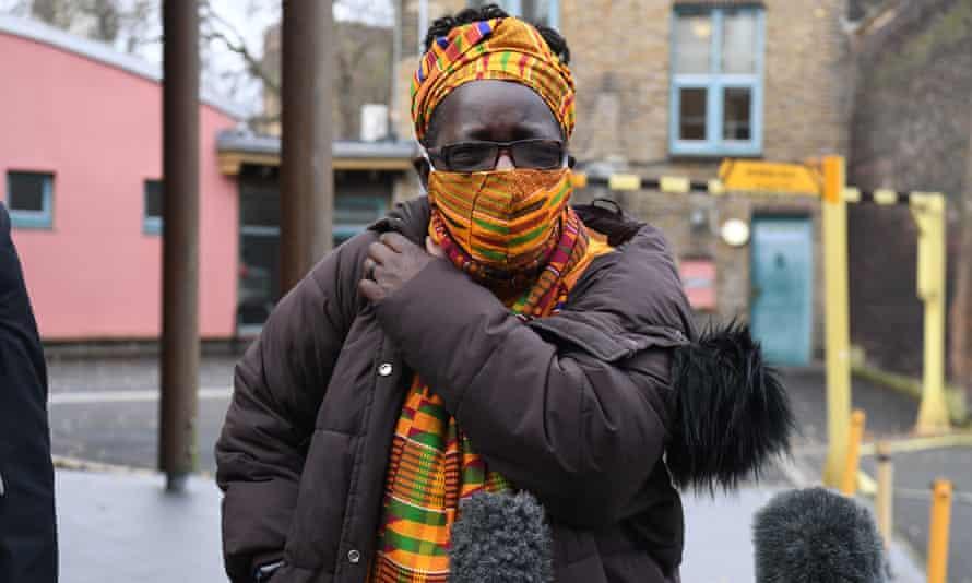 Rosamund Kissi-Debrah outside Southwark coroner's court after the inquest into the death of her nine-year old daughter Ella Kissi-Debrah.