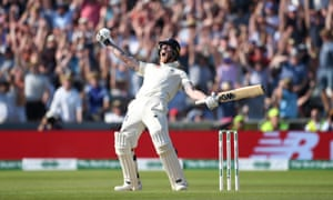 Ben Stokes celebrates England's victory in the third Ashes Test at Headingley