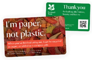The new and old National Trust annual membership cards