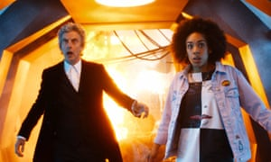 Peter Capaldi with Bill, played by Pearl Mackie