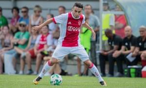 Abdelhak Nouri of Ajax during the friendly match against Werder Bremen.