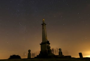 <strong>Wendover, UK</strong> People wait to watch the Perseid meteor shower in southern England