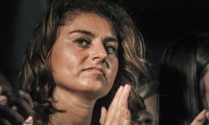 Susanna Ceccardi at a campaign rally in Pisa