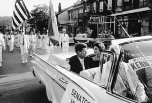The Kennedys together during JFK's presidential campaign in 1959.