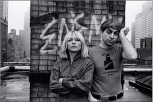 Debbie Harry with Blondie bandmate and former partner Chris Stein in 1980