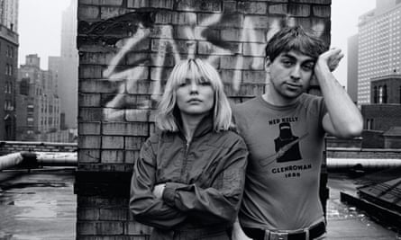Debbie Harry and Chris Stein of Blondie in 1980. 'When I look at these photos, I'm not seeing me,' Harry said. 'I'm seeing the photos themselves.'