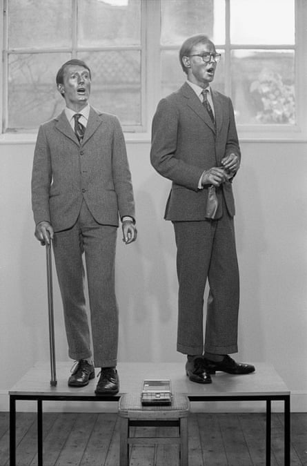 Groundbreaking … Gilbert and George perform The Singing Sculpture in 1970.