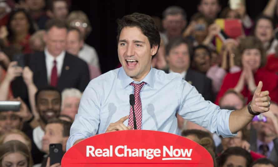 Prime minister designate Justin Trudeau speaks to supporters at a rally in Ottawa, Ontario, Tuesday, Oct. 20, 2015. (Adrian Wyld/The Canadian Press via AP)