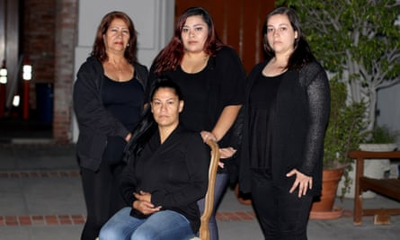 Terranea Resort workers Sandra Pezqueda, front seated, and, in back from left to right, Rosa Marina Moreno, Jasmin Sanchez and Sharon Merino.