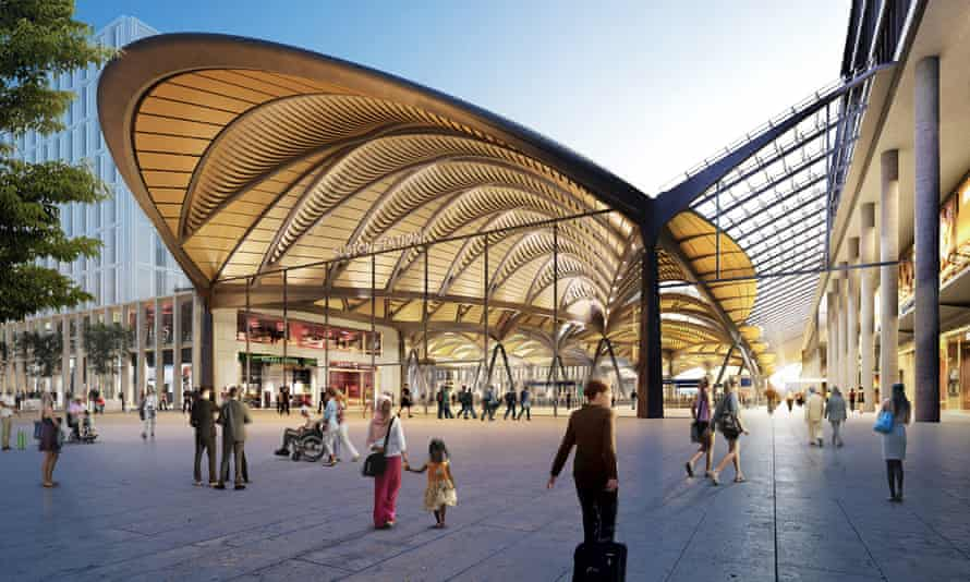 A computer image of the proposed new Euston station for HS2.