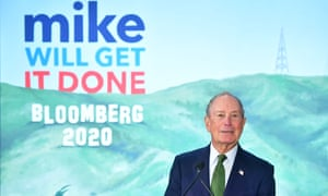 Mike Bloomberg addresses supporters on Monday in Los Angeles, California.